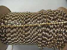 4 foot length,swarovski rhinestone chain,24pp crystal and jet/unplated brass