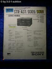 Sony Service Manual STR A37 /D309 /D359 FM/AM Receiver (#6219)
