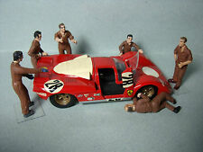 6  FIGURINES  1/43  SET 100  MECANOS  FERRARI  LE MANS  1970  VROOM  FOR  SPARK