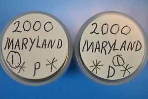2000 P-D Maryland  State Quarters, 40 Quarters per roll. 2-Rolls #1
