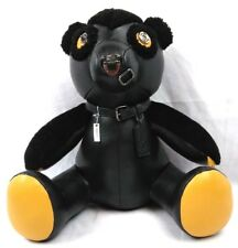 """COACH 15"""" Bear Fuzz 2017 Limited Edition Leather Black New with Tags $600"""