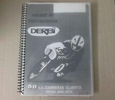 Libro Manual DERBI corrió 50 CC carrera réplica Angel Nieto