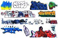 O SCALE GRAFFITI DECALS 01 FROM REAL GRAFFITI UNIQUE