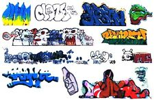 O SCALE GRAFFITI DECALS 01 FROM REAL GRAFFITI UNIQUE