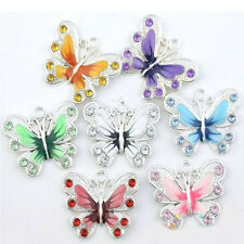 5/20/50Pc Colorful Enamel Animal Butterfly Pendant Charms 22*20mm Jewelry Making