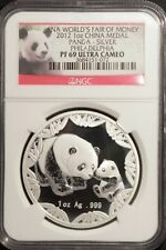 2012 1oz Silver Panda ANA World's Fair of Money Philadelphia NGC PF69 Ultra Cam