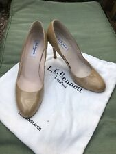 LK Bennett Size 39 (UK 6) Court Shoes Patent Nude patent leather