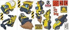 TONKA TRUCKS 19 Wall Decals Road Construction Room Decor Stickers Signs Dump