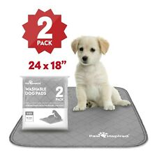 """24"""" x 18"""" Paw Inspired Washable Reusable Dog Pee Wee Pads, Puppy Training Pads"""