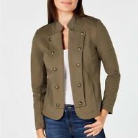 Tommy Hilfiger Womens Size Small Military Style Open Front Blazer Jacket $109