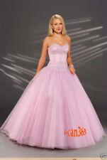 Cinderella Pink Satin Diamante 50s Crinoline Evening Dress Prom Ball Gown 10 12