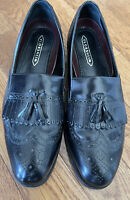 Florsheim Mens Black Leather Loafer Wingtip W/ Tassel Slip-On Trendy Shoe Sz13