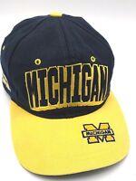 Vintage UNIVERSITY OF MICHIGAN WOLVERINES adjustable cap / hat -read description