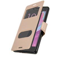 Etui Housse Coque Pochette Double Fenetre Flip Sony Xperia XA 1 Ultra - OR