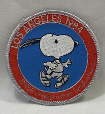 Snoopy Peanuts Track Sew or Iron Patch-Los Angeles 1984 olympics