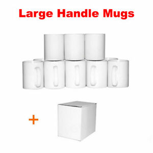 Sublimation Mug Large Handle 10oz Mugs x36 White ORCA Double Coated Heat Press