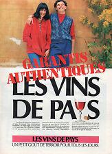 Publicité Advertising 1981 LES VINS DE PAYS