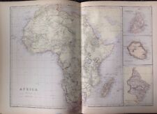 Africa, Mauritius, Bourbon And Natal  1882 Antique Map W.G. Blackie Atlas