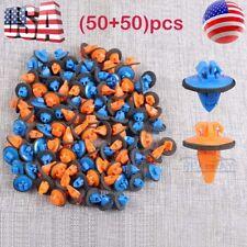100pcs Orange & Blue Tacoma 4Runner Trim Moulding Clip 75395-35070 & 75396-35020