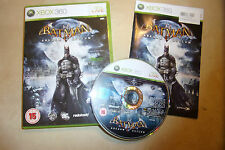 XBOX 360 GAME BATMAN ARKHAM ASYLUM + BOX & INSTRUCTIONS / COMPLETE PAL GWO