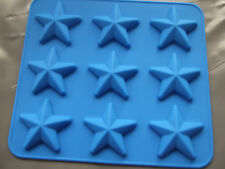 Silicone Mould 9 Small Star Pan/ Tray- Chocolate,Wax Melts, Ice, Soap etc