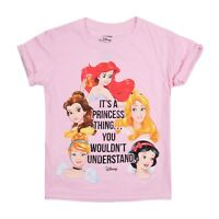 Disney Princess - A Princess Thing - Kids Girls T-Shirt - Light Pink