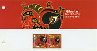 Gibraltar 2019 MNH Year of Pig 2v Set Pres Pack Chinese Lunar New Year Stamps
