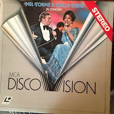 Mel Torme & Della Reese In Concert -  Laserdisc Buy 6 for free shipping