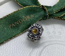Pandora November Citrine Birthday Bloom Flower Charm #790580CI Authentic Ale