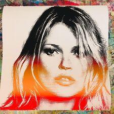 KATE MOSS RAINBOW LINES MR CLEVER ART street art print fashion model luxury pop