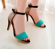 Girls High Heels Sandals Open Toe Strap Womens Stiletto Casual  Pumps Shoes