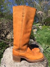 Vintage Women's Tall Campus Boots Frye ?  Golden Brown Size 8. Made In USA