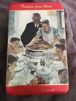 Norman Rockwell The Saturday Evening Post Freedom From Want Mar 6 1943 Empty Tin