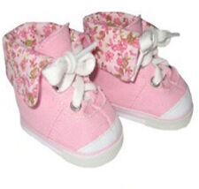Pink Print High Top Sneakers Fits 18 inch American Girl Dolls