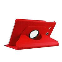 Étui pour Samsung Galaxy Tab E 9.6 Pouces Sm T560 T561 Couverture de Poche Rouge
