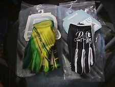 LOT 2 PAIRS DEFT FAMILY GLOVES  WHITE & BLACK, YELLOW &  GREEN LARGE adult ATV