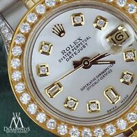Rolex 26mm Datejust White Mother Of Pearl 8+2 Diamond Dial 18k Gold & Stainless