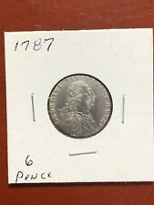1787 Great Britain 6 Pence Coin High Grade