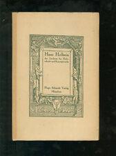 Hans Holbein der Zeichner für Holzschnitt und Kunstgewerbe 1920