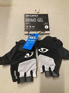 ! Giro Bravo Gel Adult Large Cycling Bike Bicycle Gloves White/Black