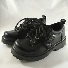 Skechers Boy's Black Leather Casual  Wizard Shoes Size 13 93200L