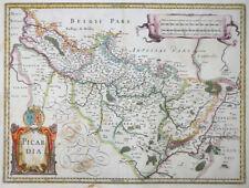 MERCATOR HONDIUS FRANKREICH KARTE PICARDIE PICARDIA AMIENS WAPPEN  1631