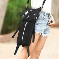 Cute Lolita Girls' Black Cat Backpack Women Fashion Canvas Rucksack Unisex 1PC