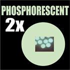 2 Autocollants Phosphorescent lumineux la nuit rond 4,5 cm