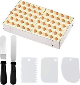 Edelstahl Verstellbar Backrahmen Kuchenform eckig Tortenring+Schaber Tortenmesse