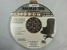 30 ft Upholstery NICKEL Tackstrips Roll Decorative Nail Strip Nailhead Trim USA