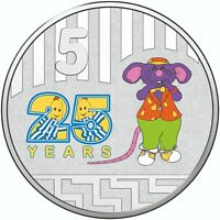 2017 Australia 5c Choice UNC Coin - Bananas in Pyjamas 25 years RAT IN THE HAT