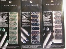 Maybelline Color Show Fashion Prints Nail Art Stickers Mixed Lot of 3