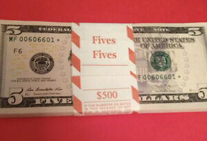 ⭐️WOW⭐️1-EA $5 2013 FANCY SERIAL#⭐️STAR  NOTE Bills With COOLEST RARE NUMBERS⭐️