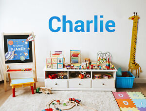 Personalised Wall Sticker Name Word Custom Text Sign Decal Mural Bespoke Gift